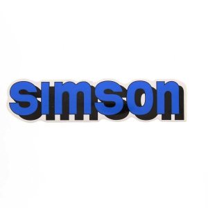 Aufkleber / Klebefolie - simson - für Tank - blau - S51, S70