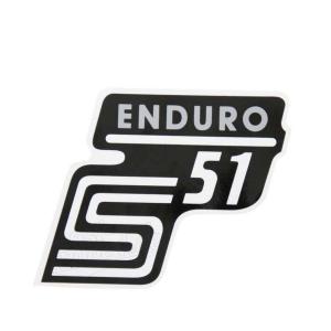 Aufkleber / Klebefolie Seitendeckel - S51 Enduro - silber