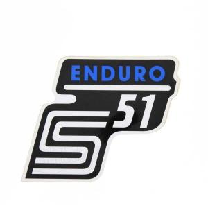 Aufkleber / Klebefolie Seitendeckel - S51 Enduro - blau