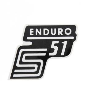 Aufkleber / Klebefolie Seitendeckel - S51 Enduro - weiß