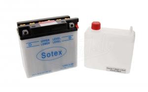 Batterie  12N5,5-3B   SOTEX  (Top Qualität)  (incl. SÄUREPAKETim Einzelkarton) S51,S53, ETZ 125,150,