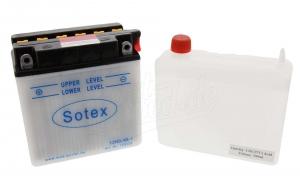 Batterie  12N9-4B-1  SOTEX (Top Qualität) (incl. SÄUREPAKETim Einzelkarton) ETZ 250,251/301
