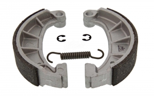 Set Bremsbacken mit Stahleinlage Ø124 mm mit Feder und Clips - Simson