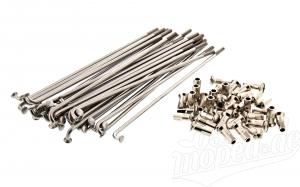 Set Speichen und Nippel - Edelstahl poliert - Simson S51, S50, S53, KR51/1, KR51/2, SR4-1, SR4-2, SR4-3, SR4-4, Duo