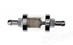 FILU Benzinfilter - Metallausführung -  Außendurchmesser: 28mm - 8mm Anschluss, passend für MZ