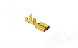 Flachsteckhülse mit Rastnase  Kabelschuh  6,3 für Kabel 1,5-2,5