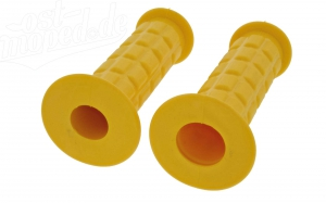 Lenkergummi SET (Festgriff-Gummi und Drehgriff-Gummi) gelb  S50, S51, S70, SR50, SR80