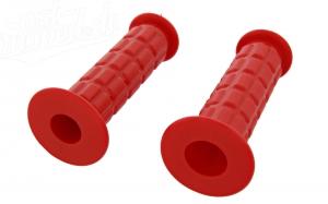 Lenkergummi (Festgriff-Gummi und Drehgriff-Gummi) SET rot S50, S51, S70, SR50, SR80