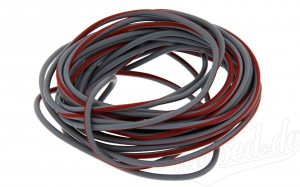 Kabel grau / rot 1,5 mm²  (Meterware)