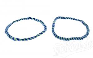 Nabenputzringe WÜMA blau/neon, SET, vorne u. hinten, passend für MZ-Nabe 232mm, 760mm lang