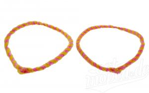 Nabenputzringe WÜMA gelb/rosa, SET, vorne u. hinten, passend für MZ-Nabe 232mm, 760mm lang