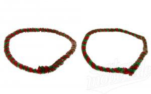 Nabenputzringe WÜMA rot/hellgrün, SET, vorne u. hinten, passend für MZ-Nabe 232mm, 760mm lang