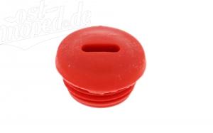 Verschlußschraube für Kupplungsdeckel - rot - S51, S53, SR50, KR51/2