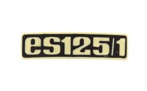Typenschild - Plakette - Abzeichen für ES125/1 - Plastik