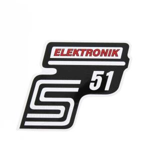 Aufkleber / Klebefolie Seitendeckel - S51 Elektronik - rot