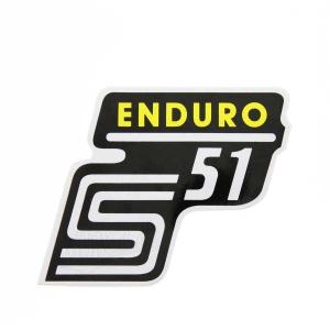 Aufkleber / Klebefolie Seitendeckel - S51 Enduro - gelb