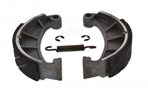 Set Bremsbacken Übermaß Ø125 mm mit Feder und Clips - Simson
