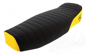 Sitzbank SIMSON kpl. (strukturiert) - schwarz/gelb - S51E, S70E