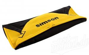 Sitzbezug SIMSON - schwarz/gelb - strukturiert S51E, S70E