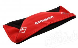 Sitzbezug SIMSON - schwarz/ rot - strukturiert S51E, S70E