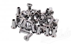 Set 36 Speichennippel M3 - messing vernickelt - SR1, SR2, KR50