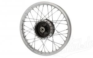 Speichenrad 1,5x16 Zoll - Alufelge poliert mit Chromspeichen - Simson