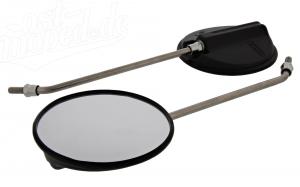 SET - 2 Stk. Rückblickspiegel - links & rechts verwendbar - ø120mm - Gewinde M8 - Edelstahlarm