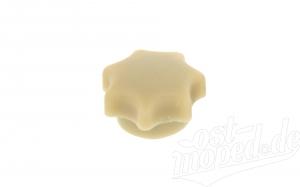 Sterngriffmutter M6, elfenbein, lange Ausführung, ohne Druckscheibe, passend für ES, TS, SIMSON