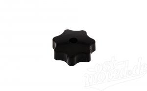 Sterngriffmutter M6 - schwarz - für Motorabdeckung, Haube oder Seitenbleche