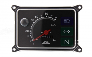 Tacho Gerätekombination - mit 6V Lampen - bis 100 km/h - SR50, SR80