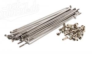 Set Speichen und Nippel - Edelstahl - für 19 Zoll Rad mit Scheibenbremse - S53, S83