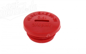 Verschlußschraube für Kupplungsdeckel - rot - S51, S53, SR50, KR51/2 - 1. Qualität