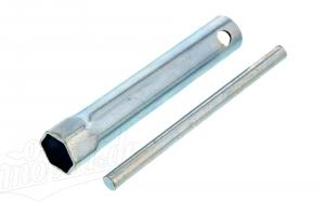 Zündkerzensteckschlüssel mit Knebel -  18x120  - z.B für Simson Schikra 125 -