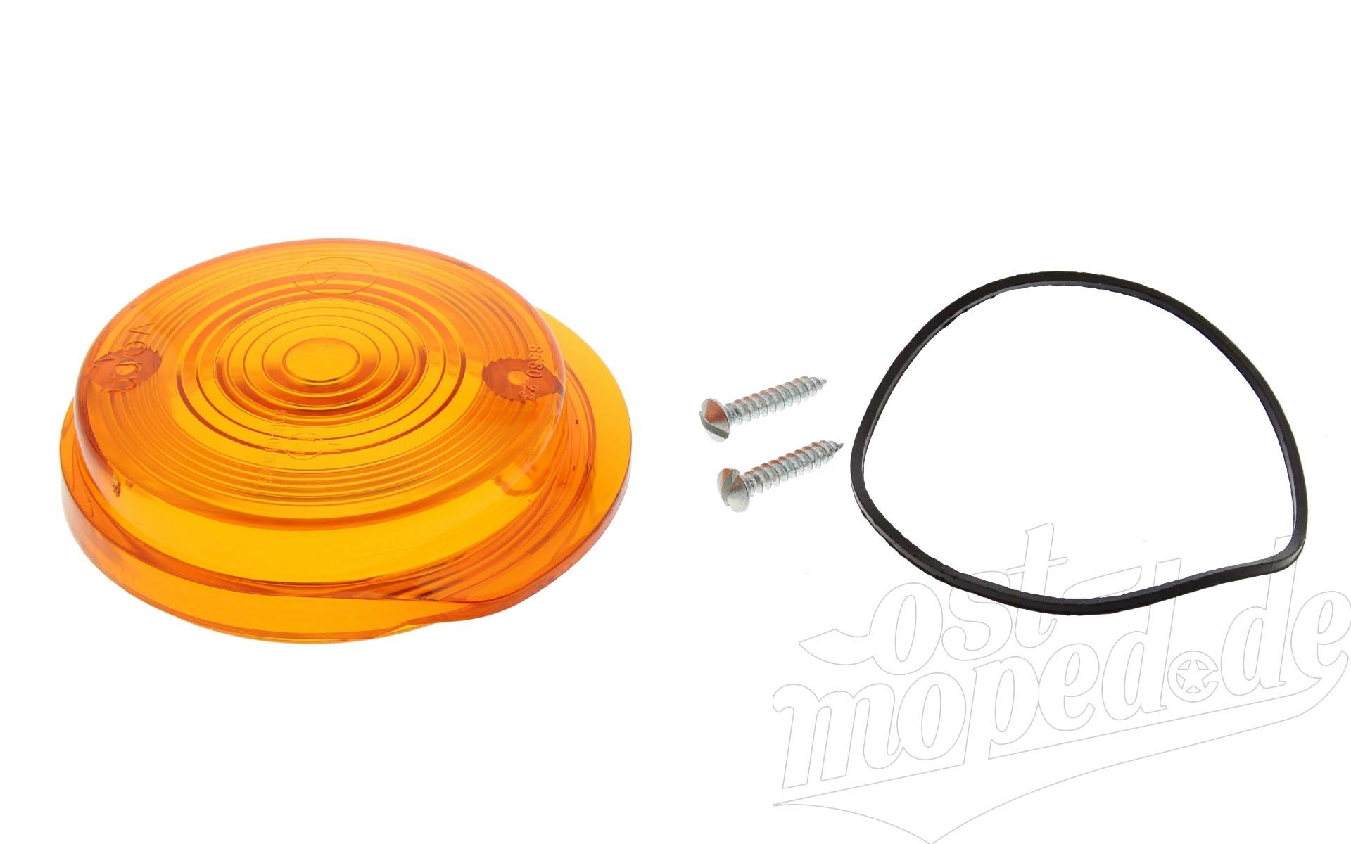 Blinkerkappe vorn rund - S50, S51, SR50, TS, ETZ - orange