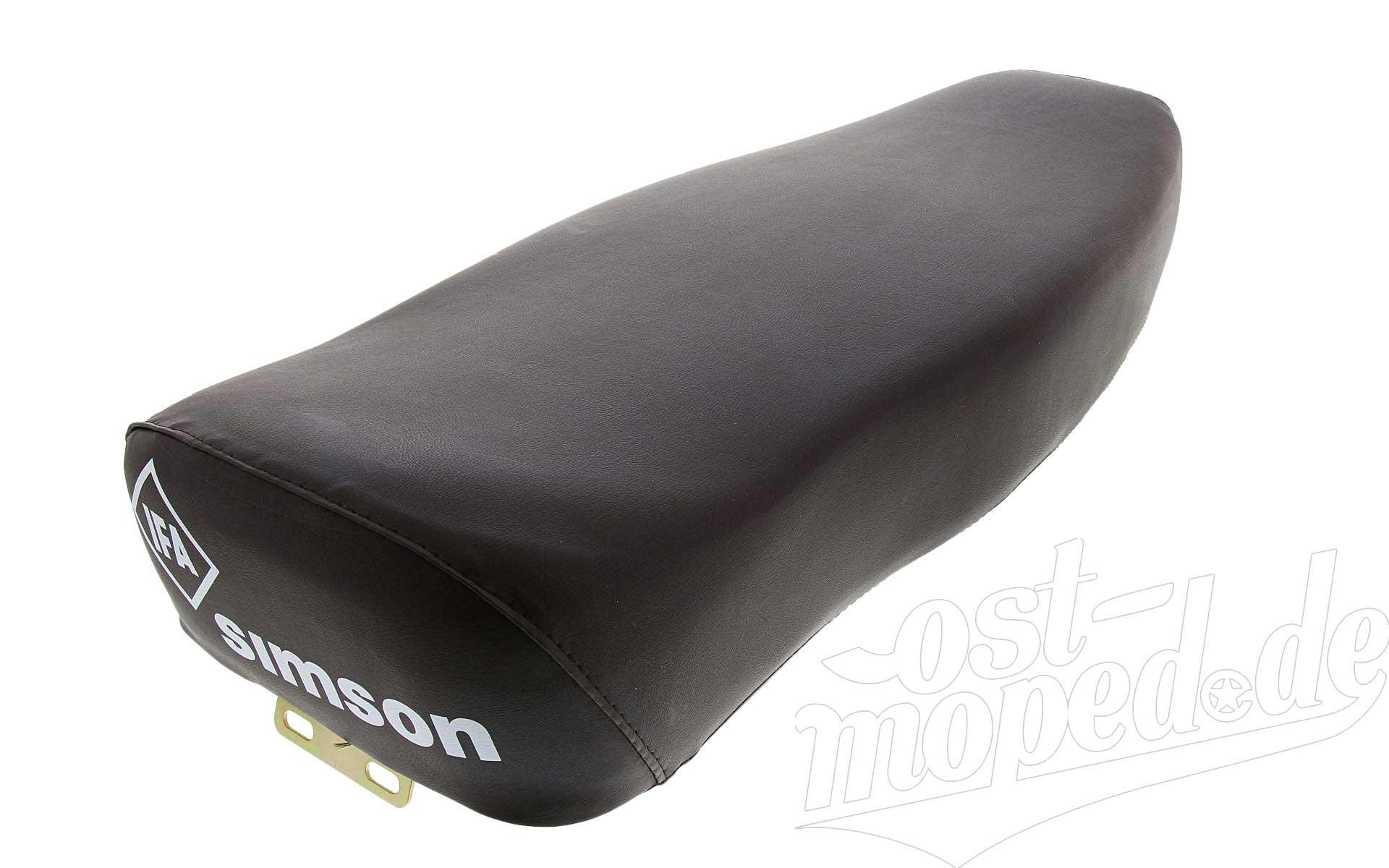 kpl. - schwarz S51 Sitzbank glatt S50