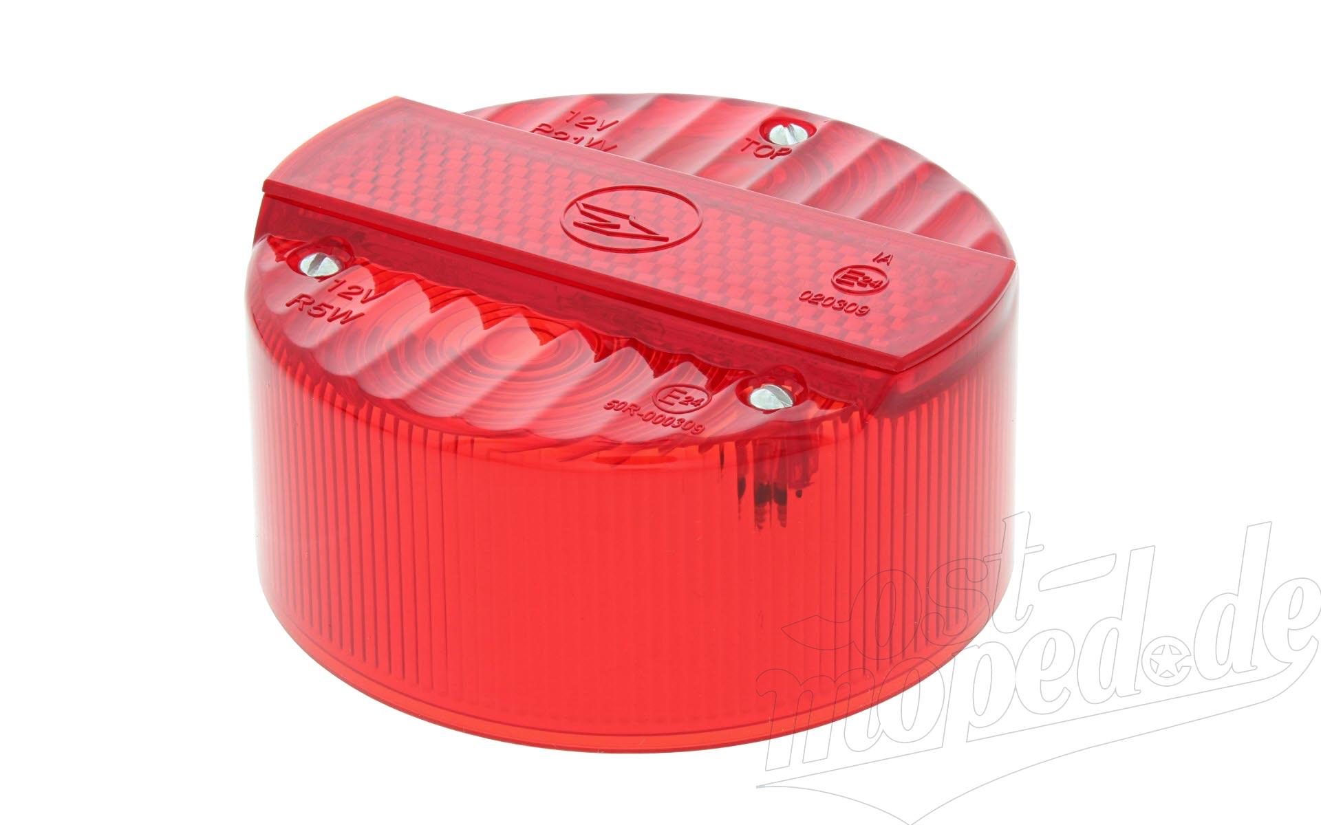 Rücklichtkappe für Bremsschlußleuchte ø 120 mm - rot - 3 Schrauben - ohne Kennzeichenbeleuchtung