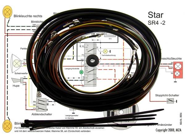 kabelbaumset star sr4 2 inkl schaltplan jetzt online. Black Bedroom Furniture Sets. Home Design Ideas