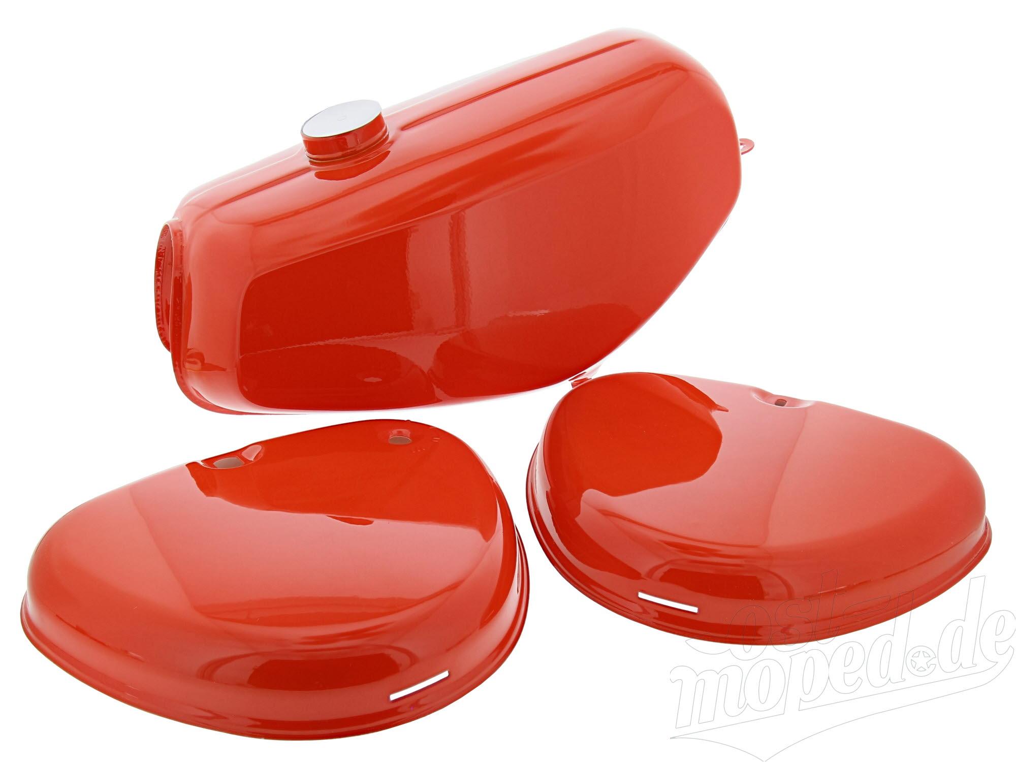 Seitendeckel Set links rechts rot  für Simson S50 S51 S70 Deckel