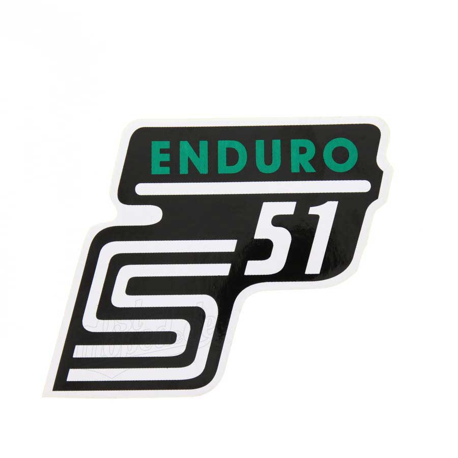 Aufkleber Klebefolie Seitendeckel S51 Enduro Grün