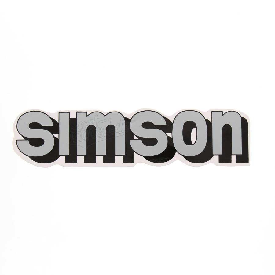 Aufkleber Klebefolie Simson Für Tank Silber Schwarz S51 S70
