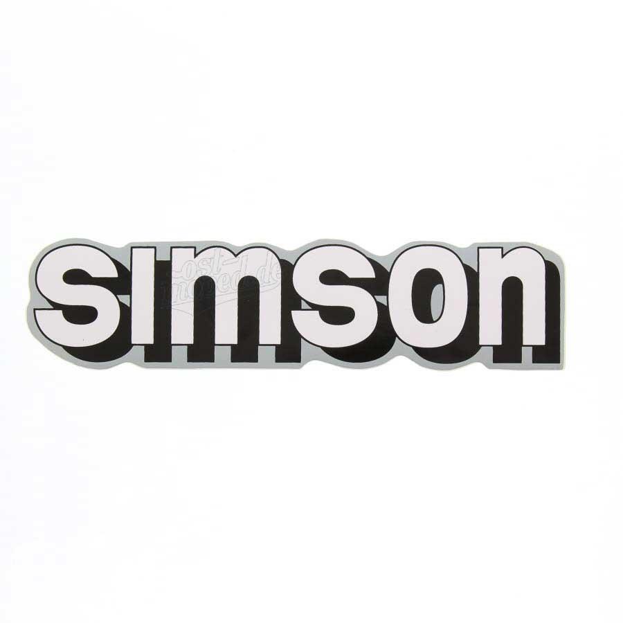 Aufkleber Klebefolie Simson Für Tank Weiß Schwarz Silber S51 S70