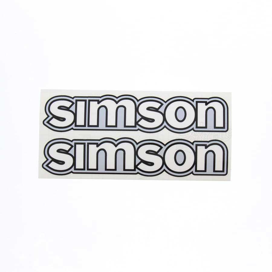 Set Aufkleber Klebefolie Simson Für Tank Weiß S50