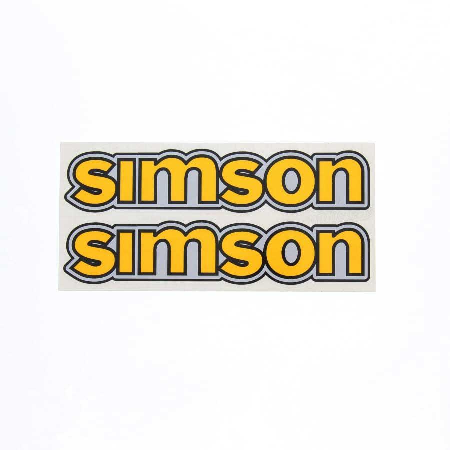Set Aufkleber Klebefolie Simson Für Tank Gelb S50