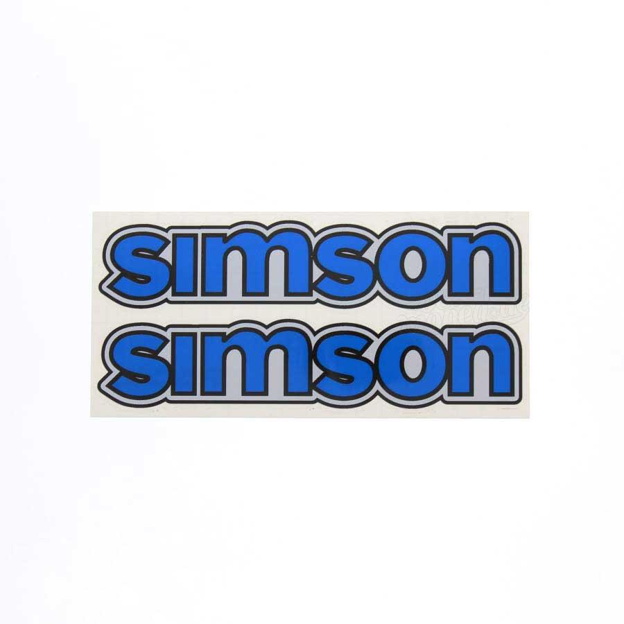 Set Aufkleber Klebefolie Simson Für Tank Blau S50