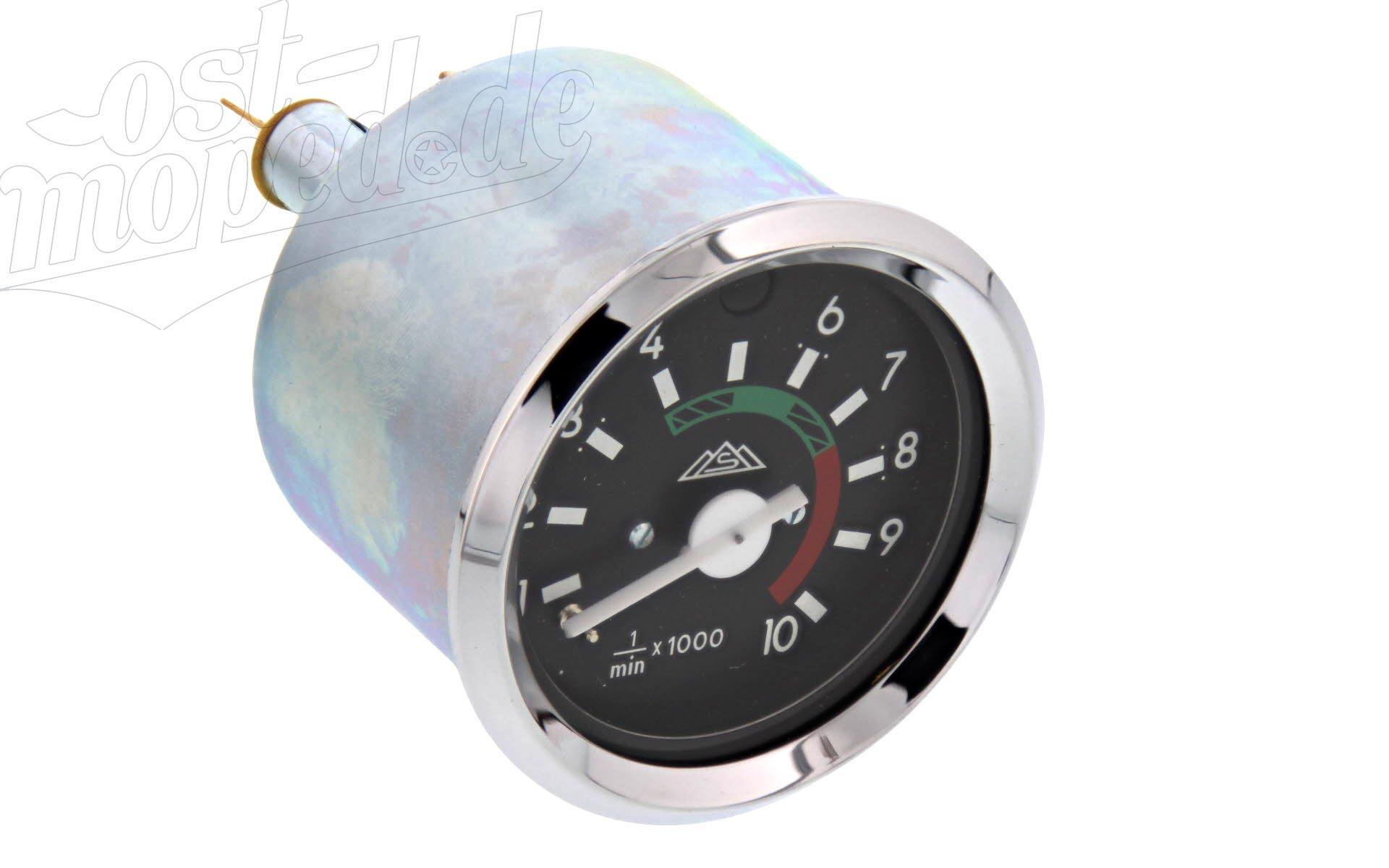Drehzahlmesser ø60mm mit Chromring und Fernlichtkontrolle für Simson S51 S70 S53
