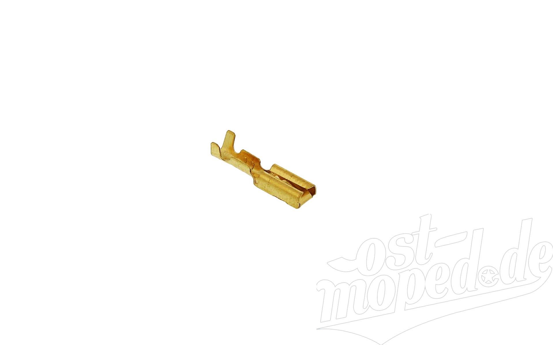 Flachsteckhülse 2,8 mit Rastnase  - Kabelschuh DIN 46247 für Kabel 0,5-1,0