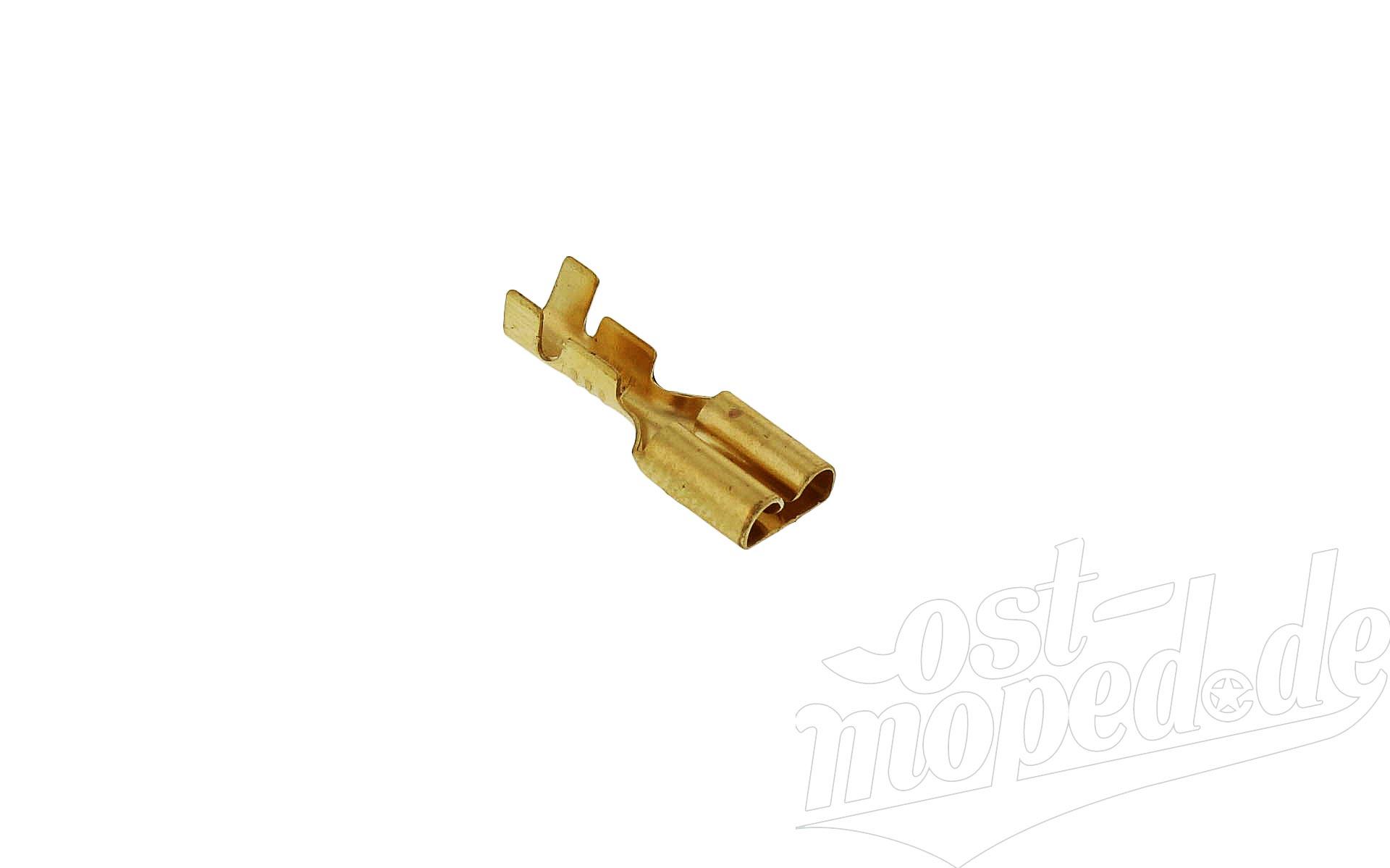 Flachsteckhülse 6,3 mit Rastnase - Kabelschuh   für Kabel 0,75-1,5
