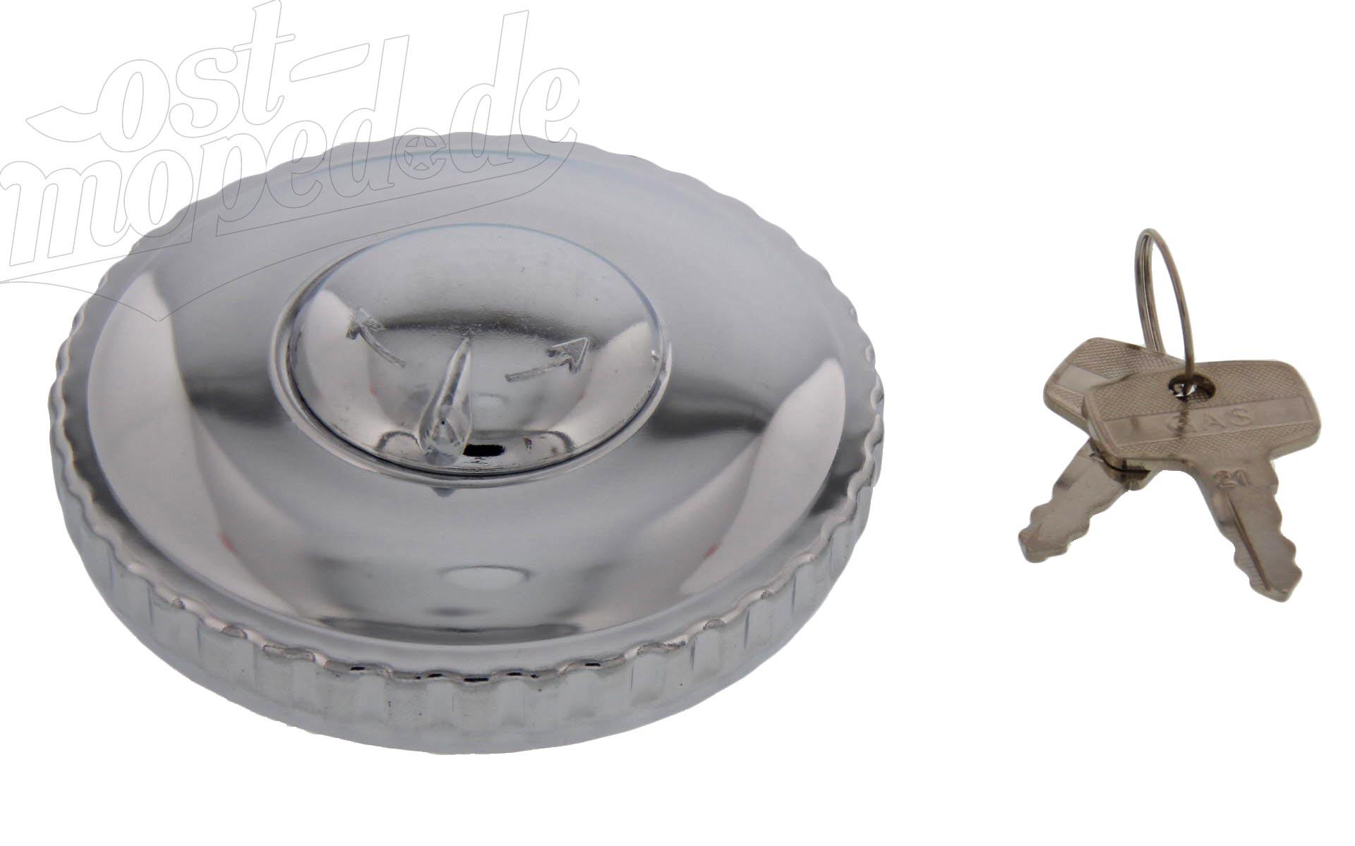 Tankdeckel Ø 60mm, abschließbar/verschließbar, hochglanzverchromt, ETZ