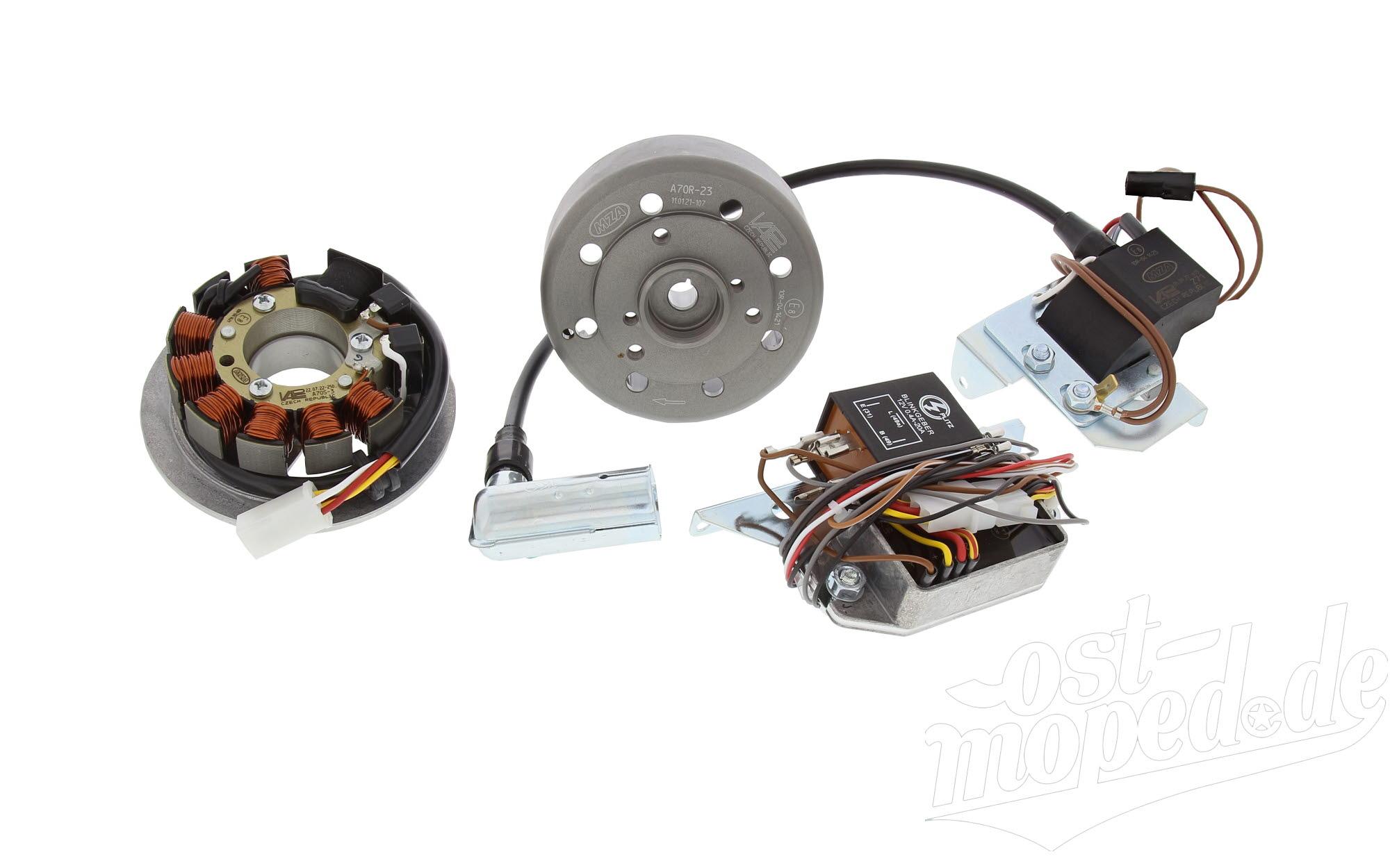 Umrüstsatz Vape - auf 12V - ohne Batterie, Hupe und Kugellampen  S50, S51, S70